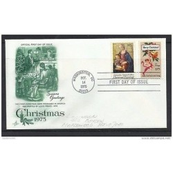 O) 1975 UNITED STATES - USA, CHRISTMAS, PAINTING DOMENICO GHIRLANDAIO, FDC XF
