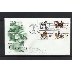 O) 1970 UNITED STATES - USA, CHRISTMAS - TOYS IN THE ATTIC, FDC XF