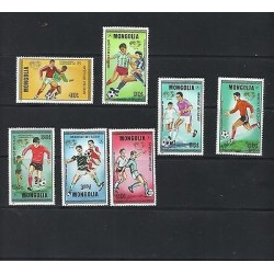 O) 1996 MONGOLIA, FOOTBALL WORLD CHAMPIONSHIP SPAIN, SET MNH