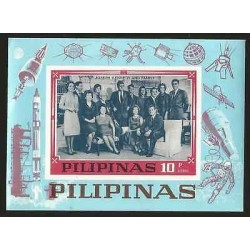 G)1968 PHILIPPINES, SPACE ROCKET-SATELLITES-ASTRONAUT, JOSEPH KENNEDY AND FAMILY
