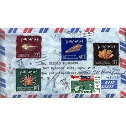 G)1965, 1970 PHILIPPINES, SEA SHELLS-MALAYSIA,PHILIPPINES & INDONESIA FLAGS, MAP