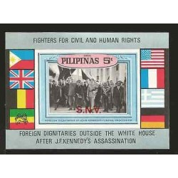 E)1968 PHILIPPINES, FIGHTERS FOR CIVIL AND HUMAN RIGHTS, FLAGS, AIR MAIL