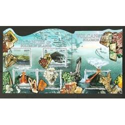 O) 2012 SOLOMON ISLANDS, VOLCANOES, GEMS, ODD SHAPE MNH-