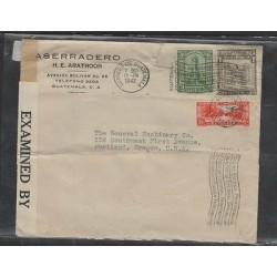 O) 1942 GUATEMALA,MONOLITH QUIRIGUA, BOW COMMUNICATIONS BUILDING, COLONIAL ARCHI