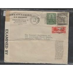 O) 1942 GUATEMALA,MONOLITH QUIRIGUA, BOW COMMUNICATIONS BUILDING, COLONIAL ARCHI