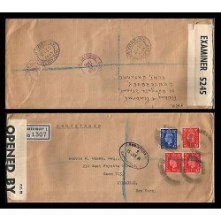 E)1941 GREAT BRITAIN, KING GEORGE VI, WAR CENSORSHIP, CIRCULATED COVER TO MEXICO