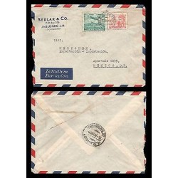 E)1947 CZHESCHOSLOVAKIA, AVIATOR, AIRPLANE, AIR MAIL, CIRCULATED COVER TO MEXICO