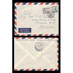 E)1947 CZHESCHOSLOVAKIA, THOMAS MASARYK, AIR MAIL, CIRCULATED COVER TO MEXICO