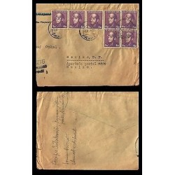 E)1945 CZHESCHOSLOVAKIA, AVIATOR MULTIPLE STAMPS, CIRCULATED COVER TO MEXICO