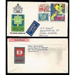 E)1986 DENMARK, BJOR WIINBLAD-PAINTING, AIR MAIL, CIRCULATED COVER TO MEXICO