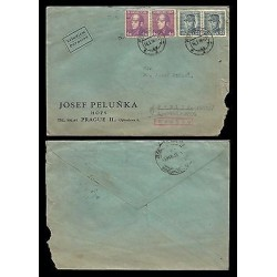 E)1946 CZECHOSLOVAKIA MILITARY, AVIATOR, CIRCULATED COVER TO MEXICO