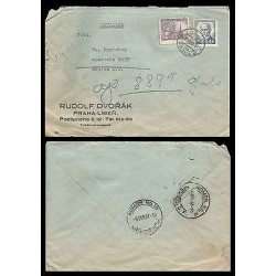 E)1947 CZHECHOSLOVAKIA, THOMAS MASARYK, CIRCULARED COVER TO MEXICO, RARE DESTIN