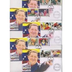 E) 2013 VENEZUELA, HUGO CHÁVEZ FRIAS SET, FDC