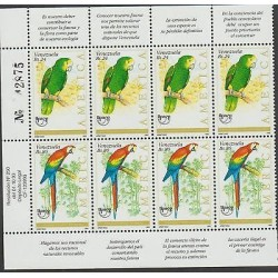 O) 1993 VENEZUELA, AMERICA UPAEP, FAUNA IN DANGER OF EXTINCTION, PARROT MARGARI