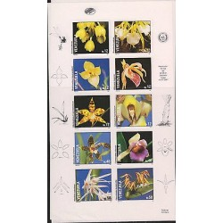 O) 1991 VENEZUELA, ORCHIDS, IMPERFORATE MNH.