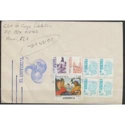 O) 1991 VENEZUELA, AMERICA UPAEP, PEDRO CENTENO, TEREPAIMA, COVER TO UNITED STAT