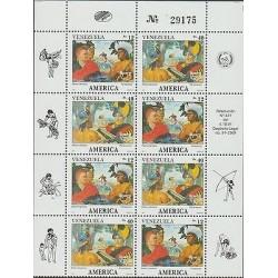 O) 1991 VENEZUELA, AMERICA UPAEP, CACIQUE TEREPAIMA, PARAMACONI, DISCOVERY OF AM