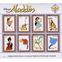 rA)1993 GUYANA, ALADDIN, ABY-MONCKEY, JASMINE-PIGEON, BIRD, TIGGER, GENIE, SULTA