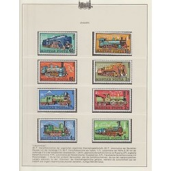 O) 1972 HUNGARY, TRAIN - LOCOMOTIVE - STEAM TRAIN, SET MNH