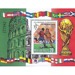 G)1990 HUNGARY, ITALY 90-FIFA WORLD CUP-FOOTBALL PLAYERS-ROMAN COLISEUM, S/S, MN