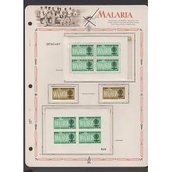 O) 1962 HUNGARY, PERFORATED AND PERFORATED, MOSQUITO, ZANCUDO TRANSMITS MALARIA