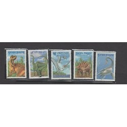 O) 1993 NEW ZEALAND, PREHISTORIC ANIMALS DINOSAURS, SET MNH