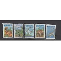 O) 1993 NEW ZEALAND, PREHISTORIC ANIMALS DINOSAURS, SET MNH