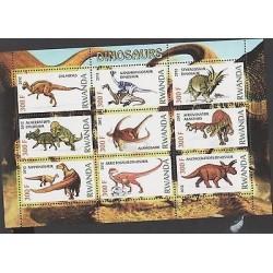 O) 2012 RWANDA, PREHISTORIC ANIMALS, DINOSAURS, MNH