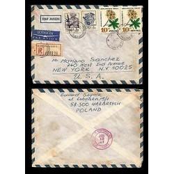 E)1977 POLAND, HONEYSUCKLE AZALEA, FLOWER, PLANT, CIRCULATED COVER