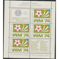 O) 1974 POLAND, WORLD CUP FOOTBALL- 1974 GERMANY - SOCCER, SOUVENIR MNH