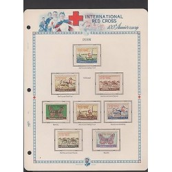 O) 1963 DUBAI, RED CROSS CENTENARY, SET MNH-