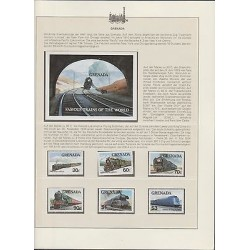 O) 1982 GRENADA, TUNNEL, STEEM TRAIN, LOCOMOTIVES - FAMOUS TRAINS OF THE WORLD,