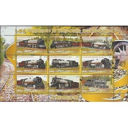 O) 2010 DJIBOUTI, TRAINS STEAM TRAINS, MINI SHEET, MNH