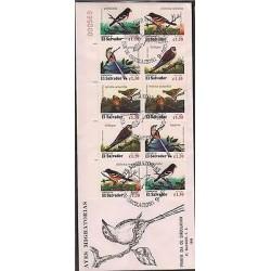 O) 1996 EL SALVADOR, MIGRATORY BIRDS, FDC XF