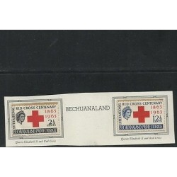 O) 1963 GREAT BRITAIN - BECHUANALAND, RED CROSS CENTENARY, QUEEN ELIZABETH II,