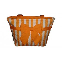 Handbag white and orange color.