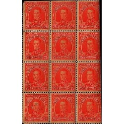 E)1900 VENEZUELA,SIMON BOLIVAR, 277, INSTRUCTION VENEZUELA, 25 CENT, RED, BLOCK