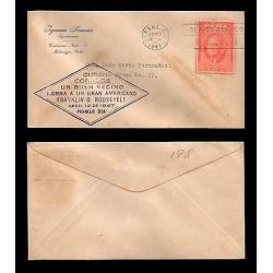 """G)1874 PERU, COAT OF ARMS 5 CTS, """"JUZGADO DE LA 1a INSTANCIA DE JUSTICIA DE HUAL"""