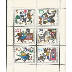 E)1966 GERMANY, SON LEAVING HOME, ILUSTRATION, SOUVENIR SHEET, MNH