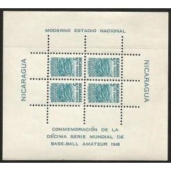 E)1948 NICARAGUA, 10 TH WORLD SERIES OF AMATEUR BASEBALL, TOWARD THE ERECTION