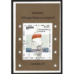 E)1984 NICARAGUA, XXIII OLYMPIC GAMES, LOS ANGELES 1984, CTO, SOUVENIR SHEET