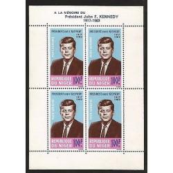 E)1963 NIGER, PRESIDENT JOHN F. KENNEDY, SOUVENIR SHEET, MNH