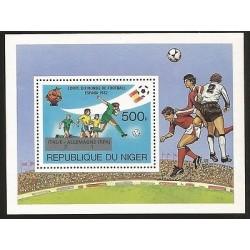 E)1982 NIGER, SPAIN 82 WORLD CUP SOCCER WITH MARKER, SOUVENIR SHEET, MNH