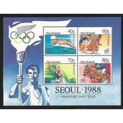 E)1988 NEW ZEALAND, SEOUL, SPORTS, OLYMPIC GAMES, SWIMMING, ATHLETICS, KAYAK