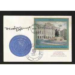 E)1964 RUSSIA, LANDSCAPE, LENIN STAMP, BLACK BOX INTERNATIONAL DAY OF INDEPENDEN