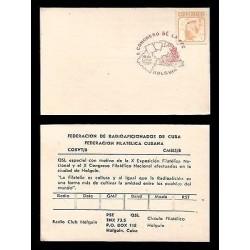E)1987 CARIBBEAN, JUTIA, RODENT, CONGRESS OF FFC-HOLGUIN, CARD