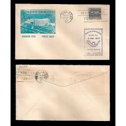 E)1952 CARIBBEAN, PALACE OF COMMUNICATIONS, FDC
