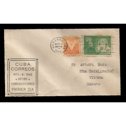E)1943 CARIBBEAN, RETIREMENT SECURITY, A120, VICTORIA, FDC, USED