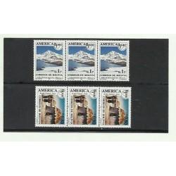 O) 1990 BOLIVIA, AMERICA UPAEP, MOUNTAIN RANGE REAL - NEVADO HUAYNA, HUT - INDIA