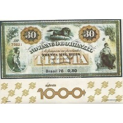 B)1976 BRAZIL, BILLET, MONEY, HORSEY, THIRTY THOUSAND REIS, 1000 AGENCY BANK